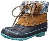 Northside Carrington Girl's Waterproof Lace-up Duck Boot (Little kid/Big kid), Tan/Aqua, 2 M US Little kid