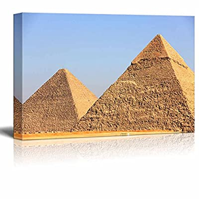 With a Professional Touch, Magnificent Style, Beautiful Scenery Landscape Pyramids of Giza in Egypt Wall Decor