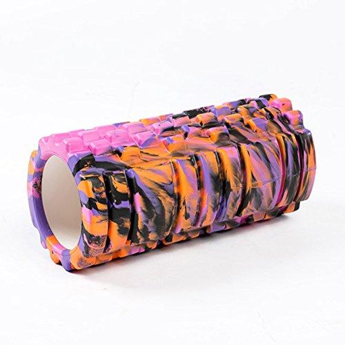 creux Yoga Colonne haute densité Rouleau de mousse pour massage musculaire Fitness équilibré Cannes Multicolore