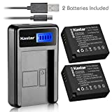 Kastar Battery (X2) & Slim LCD USB Charger for Panasonic DMW-BLE9, DMW-BLG10, DMWBLE9, DMWBLG10 and Panasonic Lumix DMC-GF3, DMC-GF5, DMC-GF6, DMC-GX7, DMC-LX100 Digital Camera