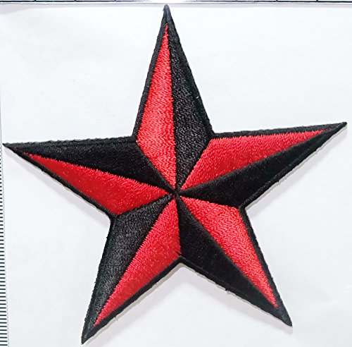 Red Star Cartoon Embroidered Sew Iron On Patch, DIY Ships and sold from Naree2016. only. Made in Thailand, Buy good quality item - Nantucket Bay Collection