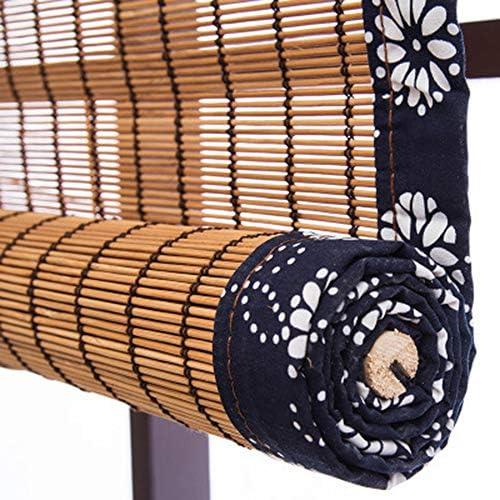 竹ロールアップカーテン、窓ブラインドサンシェード、竹ローマ木製ロールアップブラインド、天然竹カーテン、窓/ドア用屋内屋外用ロールアップ、茶室仕切り日よけ竹カーテン