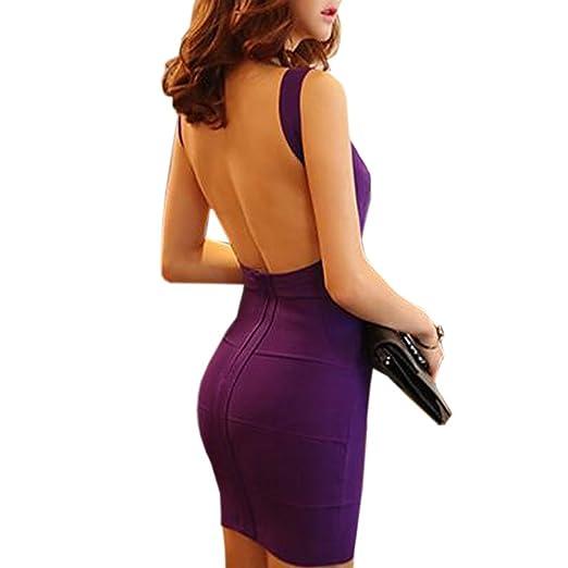 ... Vintage Vestiti Donna Eleganti Da Cerimonia · 3 opinioni per HLBandage  Women Spaghetti Strap Backless Bodycon Bandage Dress(L 677befb3865