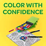 Crayola Fine Line Markers Adult Coloring Set, Kids