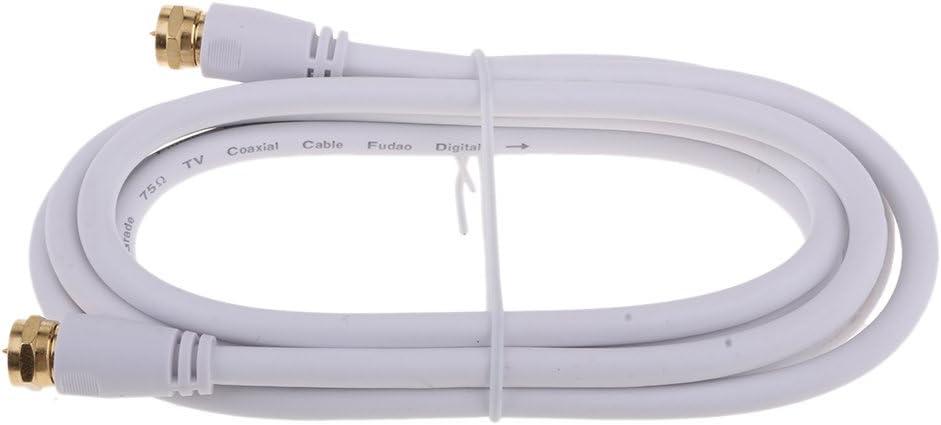 TV F Coaxial Cable Flylead Antena Macho A Macho Rf Antena de ...