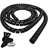 3/4'' Easy Wrap Cable Manager - Length: 10FT - Color: Black