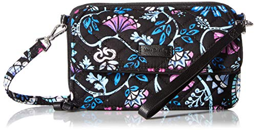 Vera Bradley womens Iconic RFID All in One Crossbody, Signature Cotton, Bramble, One Size