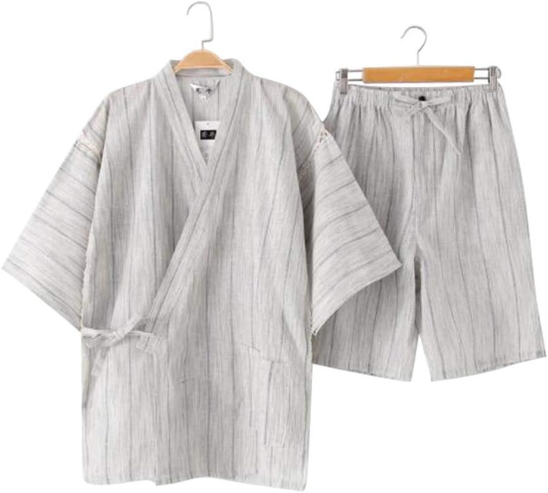 Black Temptation Kimono Jinbei camisa y pantalón japonés Loungewear/Spa albornoz (corto) - A: Amazon.es: Ropa y accesorios