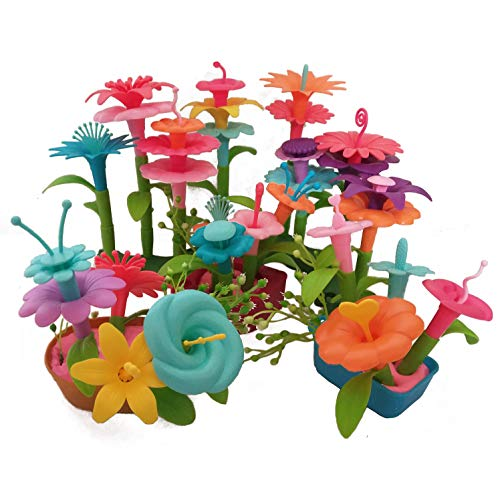 Nesting Pots Flower (LVEA Build-a-Bouquet Floral Arrangement Playset - BPA Free, Phthalates Free, Creative Play Toys for Gross Motors, Fine Motor Skill Development. Toys and Games (Flowerpots-New))