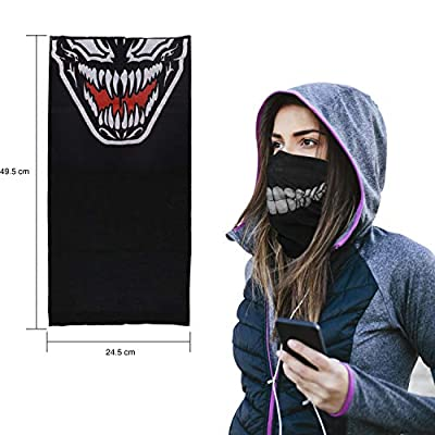 Skull Mask 2 Pieces Xpassion Windproof Dust-proof Motorcycle Face Mask for Out Riding Motorcycle Bicycle Bike: Automotive
