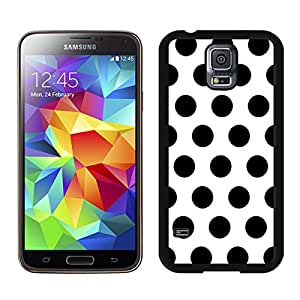 Polka Dot White and Black Samsung Galaxy S5 Case Black Cover