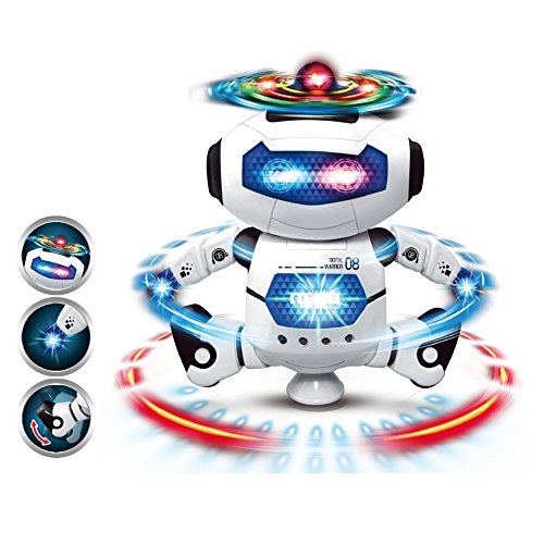 Nice HaloVa Dancing Robotic, Clever Digital Strolling Dancing Sensible Rotary Area Robotic Toys with Flashing Lights and Music for Kids Youngsters  Opinions