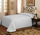 French Tile Silver Microfiber King Bedspread Silver