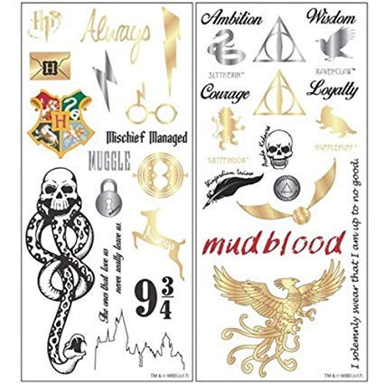 Harry Potter Temporary Tattoo Set - ST -