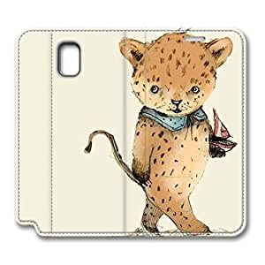 Brian114 Samsung Galaxy Note 3 Case, Note 3 Case - Customized Leather Case for Samsung Note 3 Cute Little Leopard Protective Stand Leather Case for Samsung Galaxy Note 3