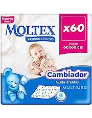 Moltex Premium Comfort Wegwerp aankleedkussen voor baby's (60 x 60 cm) - 60 aankleedkussens