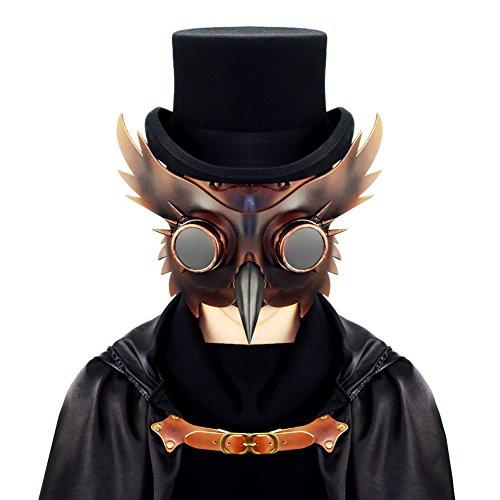 Steampunk Plague Doctor Mask Bird Beak Gothic Halloween prop Party goggles Nose