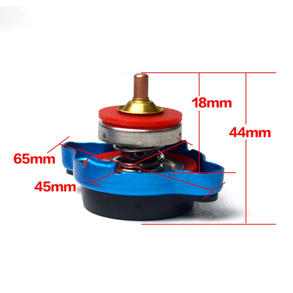 DINBGUCHI Cache-radiateur thermostatique avec jauge de temp/érature de leau 0,9//1,1//1,3 Bar Bleu