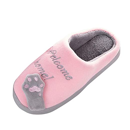 c0ff5cc1c4d08 Amazon.com: NUWFOR Women Winter Home Slippers Cartoon Cat Non-Slip ...