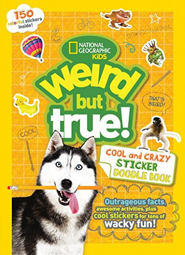 Facts Family Sticker - Weird But True Cool and Crazy Sticker Doodle Book