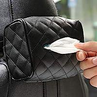 Car Leather Tissue Holder for Car Back Seat Headrest Hanging Tissue Boxes Holder Case Multi-use Car Tissue Paper Holder