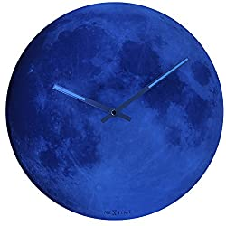 Abbot Collection NeXtime Blue Moon Wall Clock