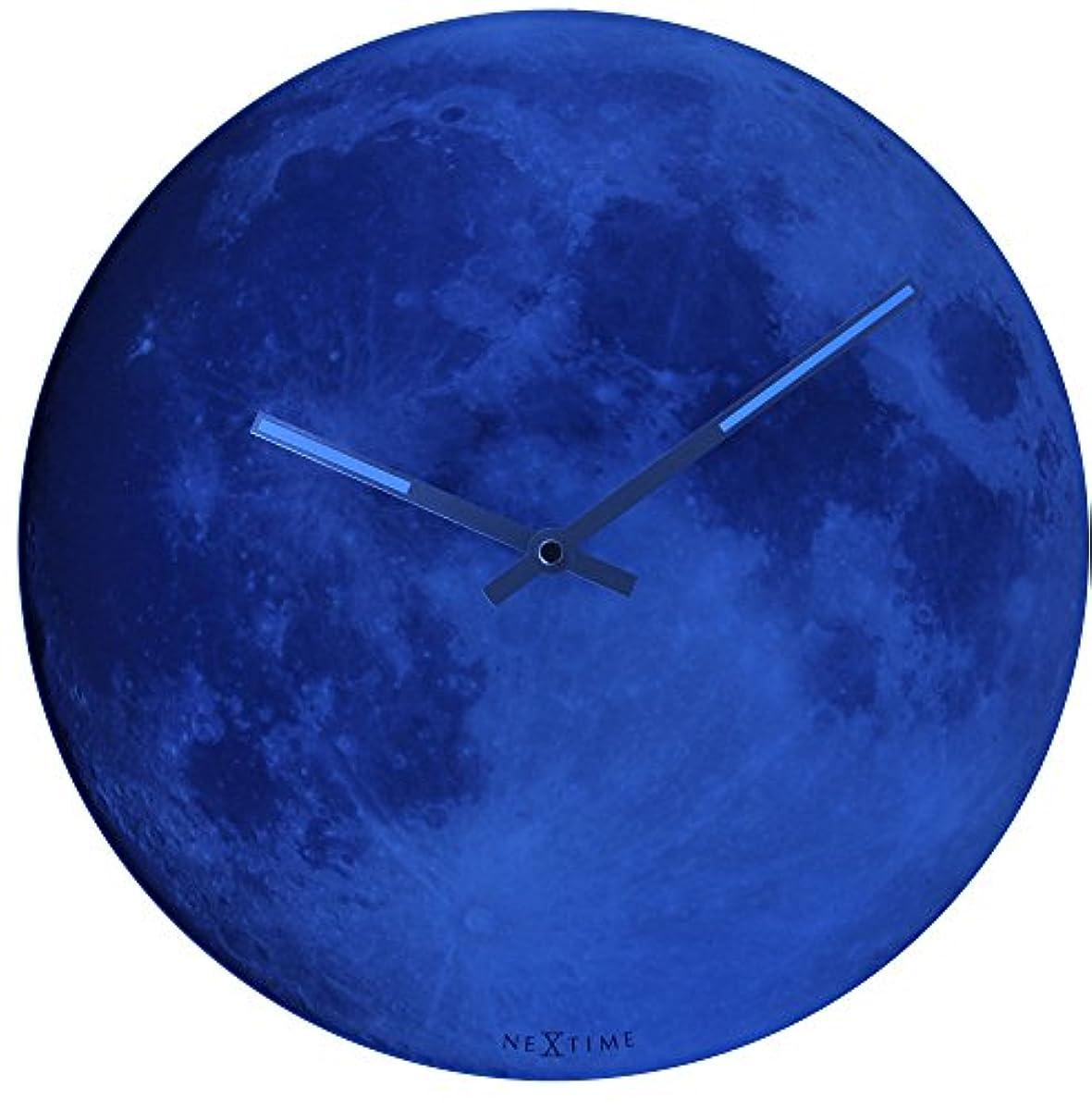 [해외] NEXTIME BLUE MOON 아날로그 벽시계 블랙 8634