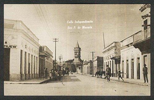 Independence Street San Pedro de Macoris Dominican Republic RPPC postcard 1920
