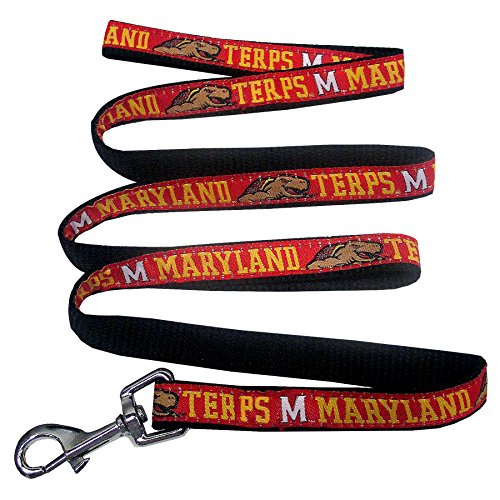 Pets First Collegiate Pet Accessories, Dog Leash, Maryland Terrapins, -