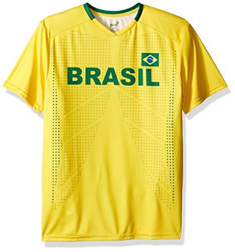 - Outerstuff World Cup Soccer Men's Short Sleeve Jersey Tee, Yellow, Medium