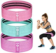Te-Rich Resistance Bands for Legs and Butt, Fabric Workout Bands, Women/Men Stretch Exercise Loops, Thick Wide