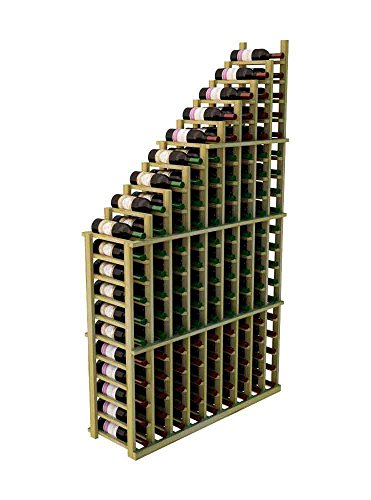 Wine Cellar Innovations DPI-UN-WATER(L)-A3 Designer Series Left Falling Waterfall Wine Rack, Rustic Pine, Without Lacquer Finish, Unstained - Waterfall Wine