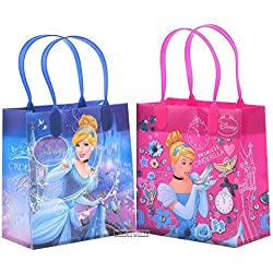 Disney Cinderella Authentic Licensed Reusable Party Favor Goodie Small Gift Bags 12