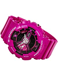 G-Shock Pink and Black Dial Resin Quartz Ladies Watch GMAS110MP-4A3 · Casio