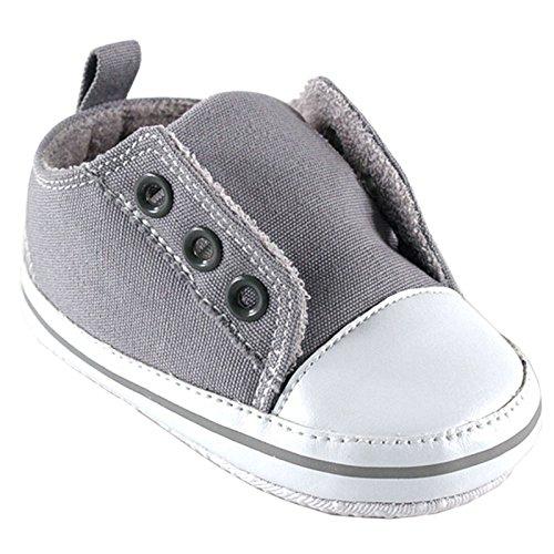 Luvable Friends Laceless Sneaker (Infant), Gray, 6-12 Months M US -