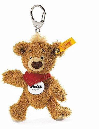 - Steiff 11cm Knopf Teddy Bear Keyring (Golden Brown)