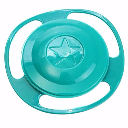 Baby Kid Food Spilling Gyro Bowl Dishes 360 Rotate No Spi...