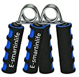 Edisalute E-smartinlife Hand Grip Strengthener Set, Finger Gripper, Hand Grippers - Soft Foam Hand Exerciser for Quickly Increasing Wrist Forearm and Finger Strength, 2 Pack