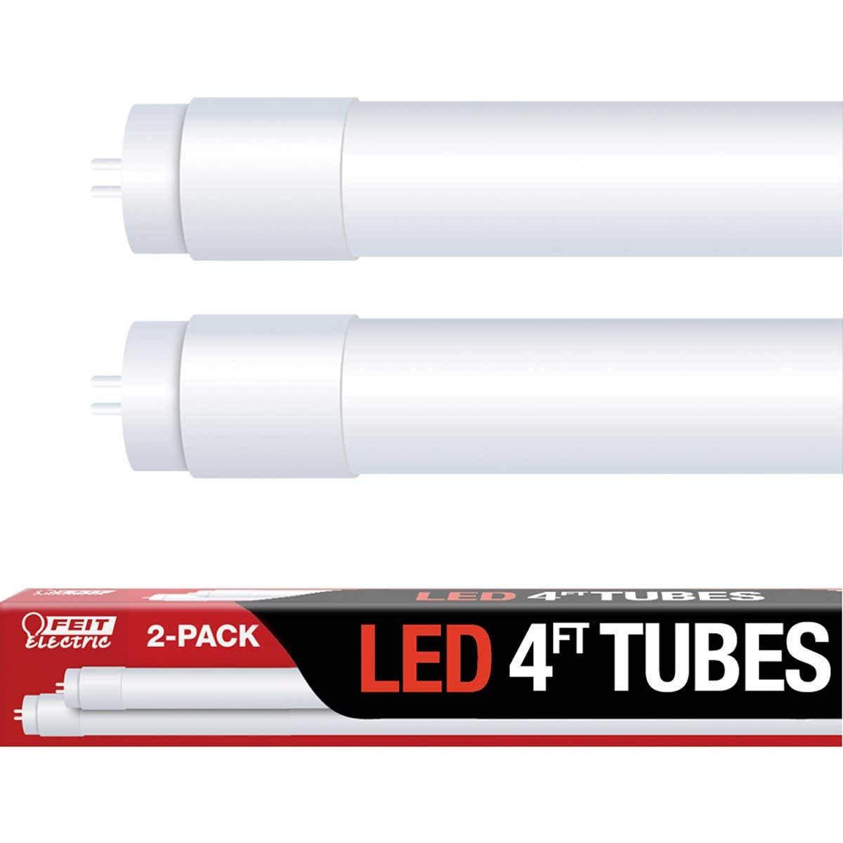 Feit Electric Led 4 Ft Tubes Replaces Fluorescent 1 Pack Light Bulbs Diagram Although Lights Includes 2