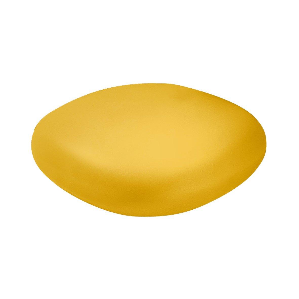 Slide Chubby Low Pouf - Small table Saffron Yellow
