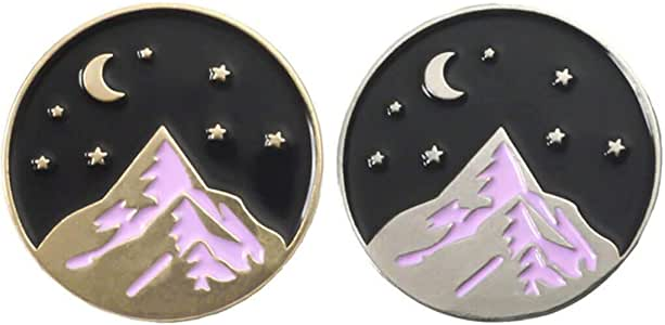 PinMart/'s Moonlight Mountain Jewelry Enamel Outdoor Nature Lover Lapel Pin