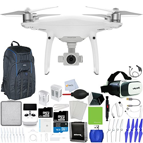 DJI-Phantom-4-Pro-Quadcopter-Xtreme-VR-Vue-II-For-iPhoneAndroid-Screen-Size-35-6-Intelligent-Flight-Battery-5350mAh-64GB-Micro-SD-Backpack-Pro-II-Car-Charger-More