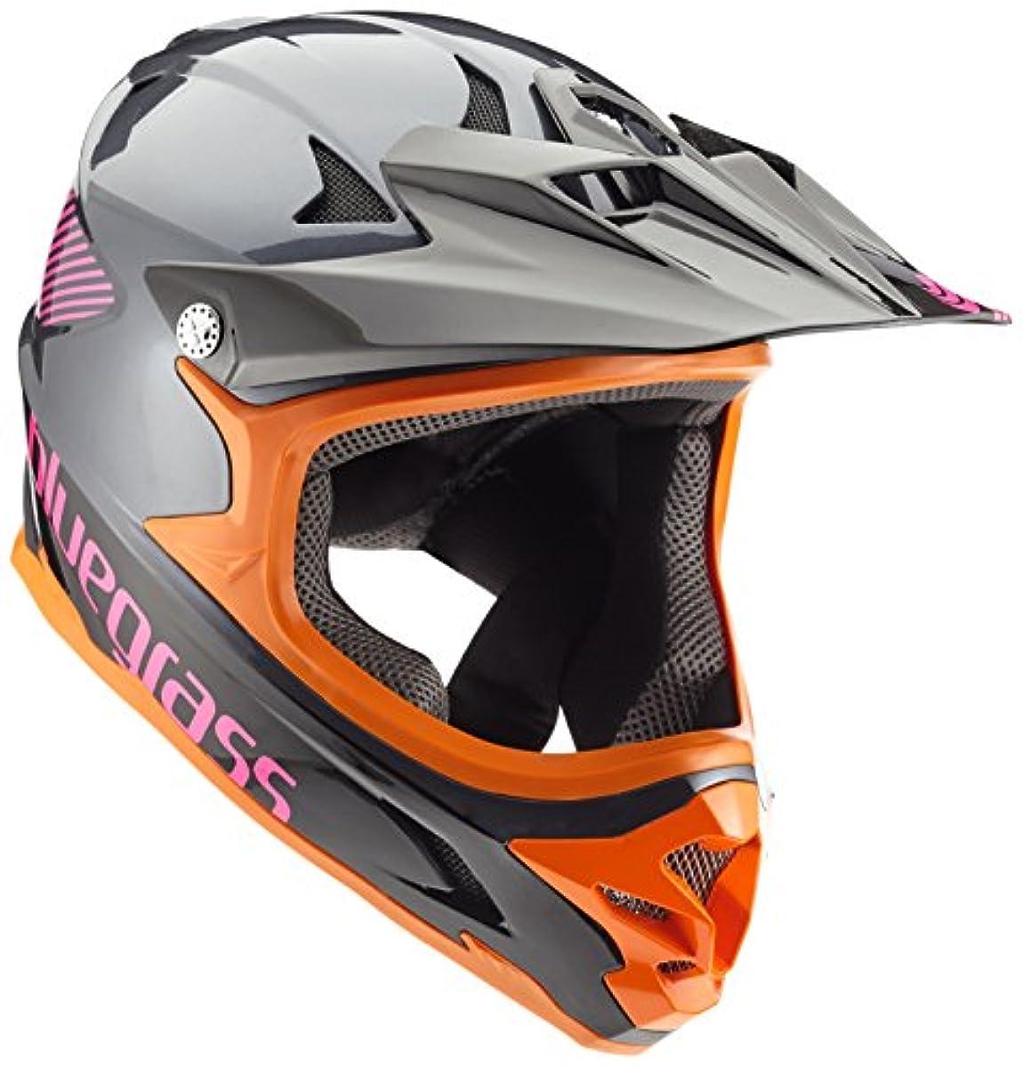 [해외] BLUEGRASS(블루 글래스) 헬멧 INTOX 3HELG09L0NE 그레이/오렌지/퍼플 L