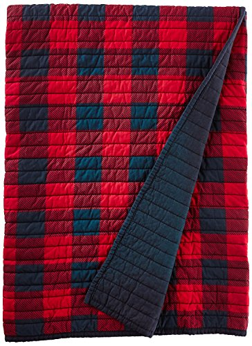 red quilted throw blankets - 3