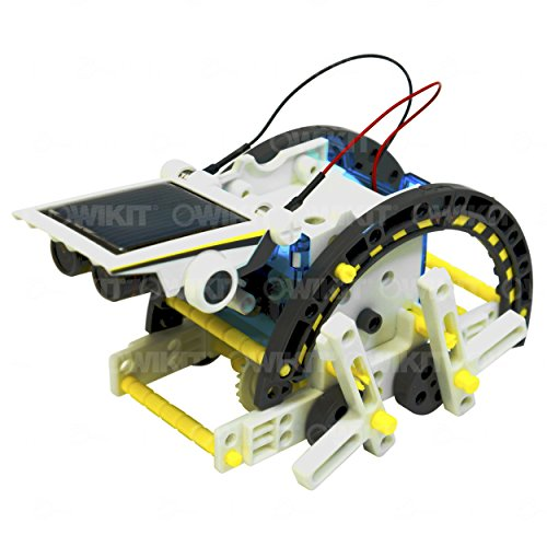 510Pe1TiRtL - 14-in-1 Educational Solar Robot   Build-Your-Own Robot Kit   Powered by the Sun