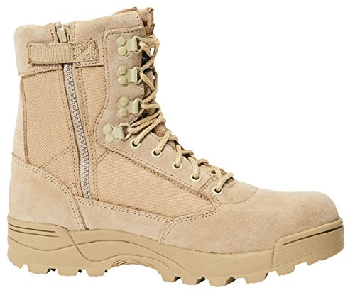 Brandit Tactical Side Zip Boots Camel Size 44 EU/10 UK