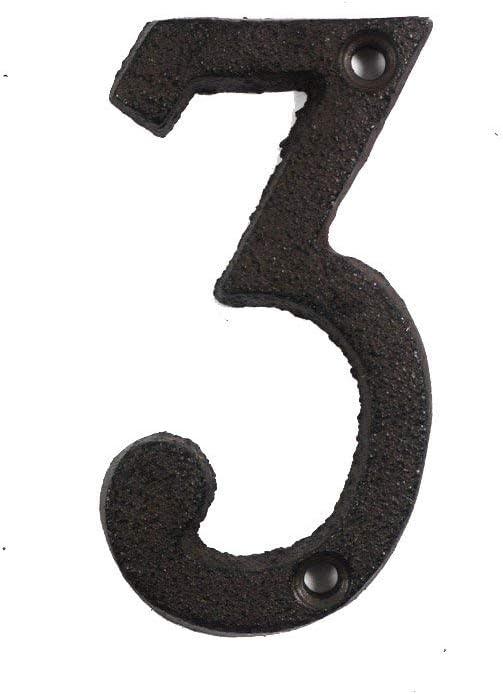 ieenay Números de Letras de Metal Hierro Fundido Decoración Casa Signo Placa de Puerta DIY Café Pared