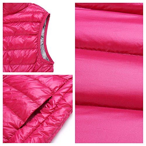 breve down chaleco chaquetas cremallera mantener caliente lados ropa abrigo ambos 05 de párrafo Mujer la recta cuello de usar dqw0WEC4f
