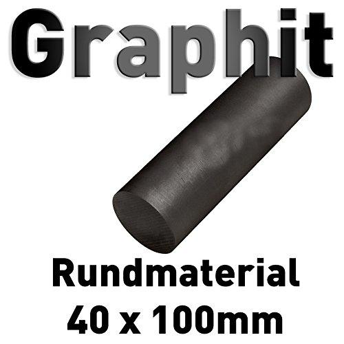 Graphit Rundmaterial 40mm x 100mm lang Zylinder Elektrode Stab Kohlenstoff 4' Polymet - Reine Metalle.