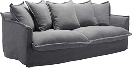 Amazon.com: Zuo Modern 101015 Livingston Sofa, Charcoal Gray ...
